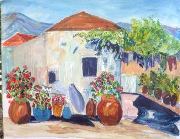 painting holidays in turkey painting by client
