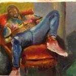 eljay dickins turkish painting holidays different holidays man lying2